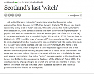 scotlands last witch